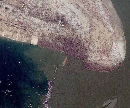Kumbh Mela gathering visible from space - interesting facts about India