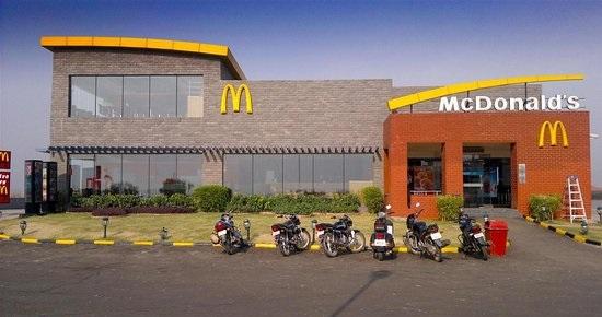 McDonald's drive-through in Zirakpur - the city beautiful Chandigarh