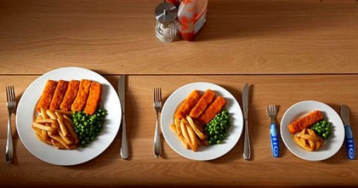 Serve yourself smaller portions to lose weight