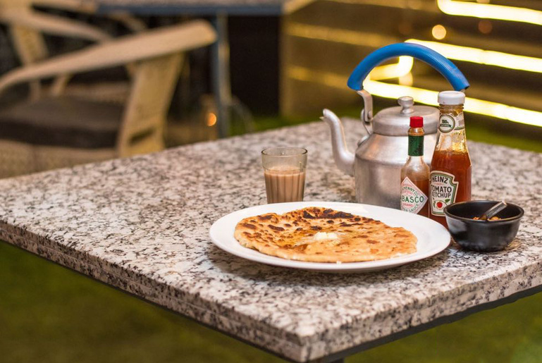 parantha with chai - the city beautiful Chandigarh